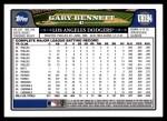2008 Topps Updates #194  Gary Bennett  Back Thumbnail