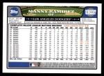2008 Topps Updates #237  Manny Ramirez  Back Thumbnail