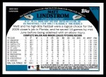 2009 Topps Update #75  Matt Lindstrom  Back Thumbnail
