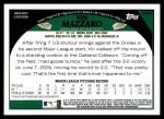 2009 Topps Update #54  Vin Mazzaro  Back Thumbnail