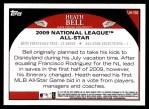 2009 Topps Update #156  Heath Bell  Back Thumbnail