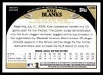 2009 Topps Update #52  Kyle Blanks  Back Thumbnail
