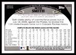 2009 Topps Update #44  Seth Smith  Back Thumbnail