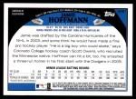 2009 Topps Update #61  Jamie Hoffmann  Back Thumbnail