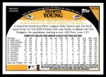 2009 Topps Update #124  Delwyn Young  Back Thumbnail
