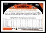 2009 Topps Update #8  Lance Broadway  Back Thumbnail