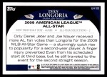2009 Topps Update #103  Evan Longoria  Back Thumbnail