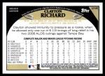 2009 Topps Update #46  Clayton Richard  Back Thumbnail