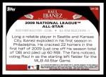 2009 Topps Update #136  Raul Ibanez  Back Thumbnail