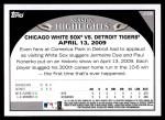 2009 Topps Update #36  Paul Konerko / Jermaine Dye  Back Thumbnail