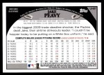 2009 Topps Update #87  Jake Peavy  Back Thumbnail