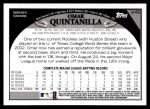 2009 Topps Update #58  Omar Quintanilla  Back Thumbnail