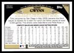 2009 Topps Update #96  Tony Gwynn  Back Thumbnail
