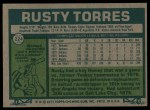 1977 Topps #224  Rusty Torres  Back Thumbnail
