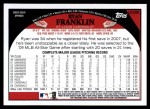 2009 Topps Update #285  Ryan Franklin  Back Thumbnail