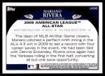 2009 Topps Update #245  Mariano Rivera  Back Thumbnail
