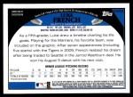 2009 Topps Update #303  Luke French  Back Thumbnail