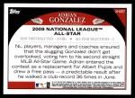 2009 Topps Update #257  Adrian Gonzalez  Back Thumbnail