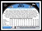2009 Topps Update #287  Matt Joyce  Back Thumbnail
