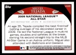 2009 Topps Update #295  Miguel Tejada  Back Thumbnail
