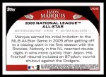2009 Topps Update #240  Jason Marquis  Back Thumbnail