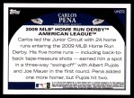 2009 Topps Update #272  Carlos Pena  Back Thumbnail