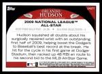 2009 Topps Update #277  Orlando Hudson  Back Thumbnail