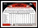 2009 Topps Update #258  Nyjer Morgan  Back Thumbnail