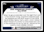 2009 Topps Update #318  Carl Crawford  Back Thumbnail