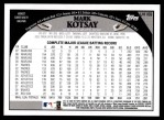 2009 Topps Update #169  Mark Kotsay  Back Thumbnail