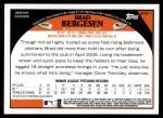 2009 Topps Update #211  Brad Bergesen  Back Thumbnail