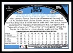 2009 Topps Update #287  Matt Joyce  Back Thumbnail