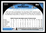 2009 Topps Update #262  Jeff Niemann  Back Thumbnail