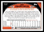 2009 Topps Update #188  Jeff Francouer  Back Thumbnail