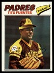1977 Topps #63  Tito Fuentes  Front Thumbnail