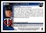 2010 Topps Update #109  Luke Hughes   Back Thumbnail