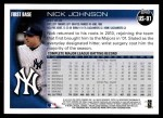 2010 Topps Update #91  Nick Johnson  Back Thumbnail