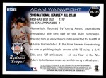 2010 Topps Update #125  Adam Wainwright  Back Thumbnail