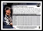 2010 Topps Update #68  John Danks  Back Thumbnail