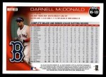 2010 Topps Update #122  Darnell McDonald  Back Thumbnail