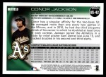 2010 Topps Update #42  Conor Jackson  Back Thumbnail
