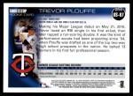 2010 Topps Update #87  Trevor Plouffe   Back Thumbnail