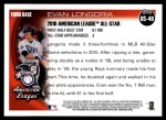 2010 Topps Update #40  Evan Longoria  Back Thumbnail