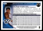 2010 Topps Update #116  Brandon Morrow  Back Thumbnail