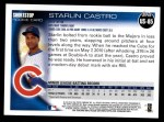 2010 Topps Update #85  Starlin Castro  Back Thumbnail