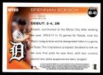 2010 Topps Update #43  Brennan Boesch  Back Thumbnail