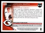 2010 Topps Update #53  Jordan Smith  Back Thumbnail