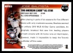 2010 Topps Update #118  Jose Bautista  Back Thumbnail
