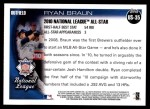 2010 Topps Update #35  Ryan Braun  Back Thumbnail