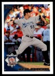 2010 Topps Update #160  Josh Johnson  Front Thumbnail